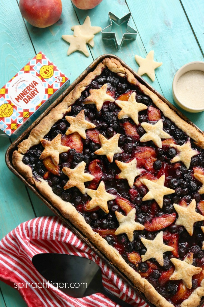 Sheet Pan Pie with Fresh fruit from Spinach Tiger