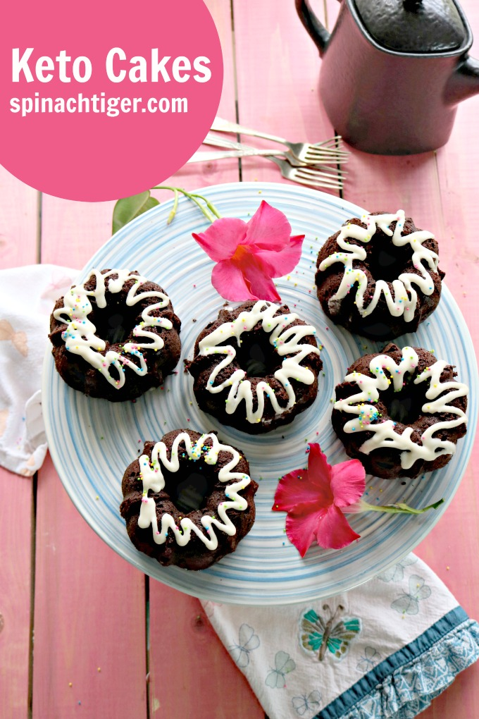 Keto Chocolate Bundt Cakes, Low Carb, Gluten Free