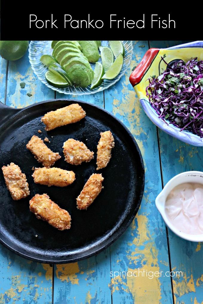 Keto Fried Fish Tacos wtih Pork Panko from Spinach Tiger #porkpanko #Fishtacos #ketotacos #ketorecipe