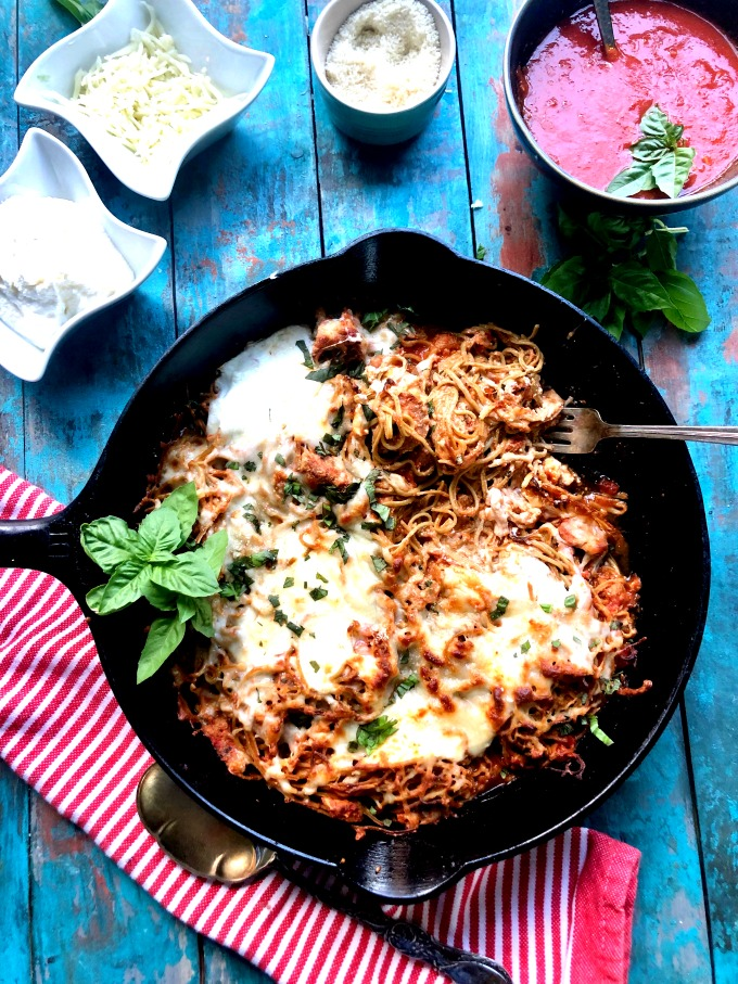 Edamame Pasta Bake from Spinach TIger
