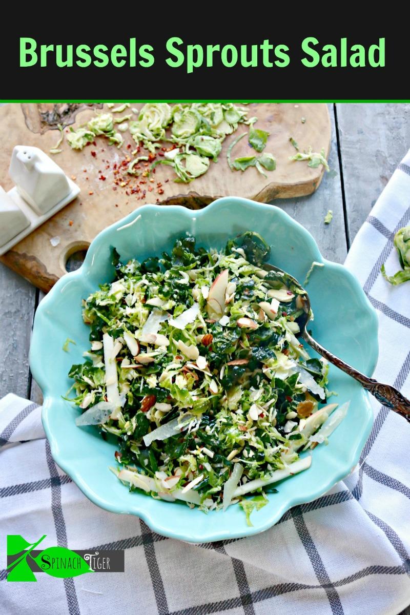 Shaved Brussel Sprout Salad via @angelaroberts