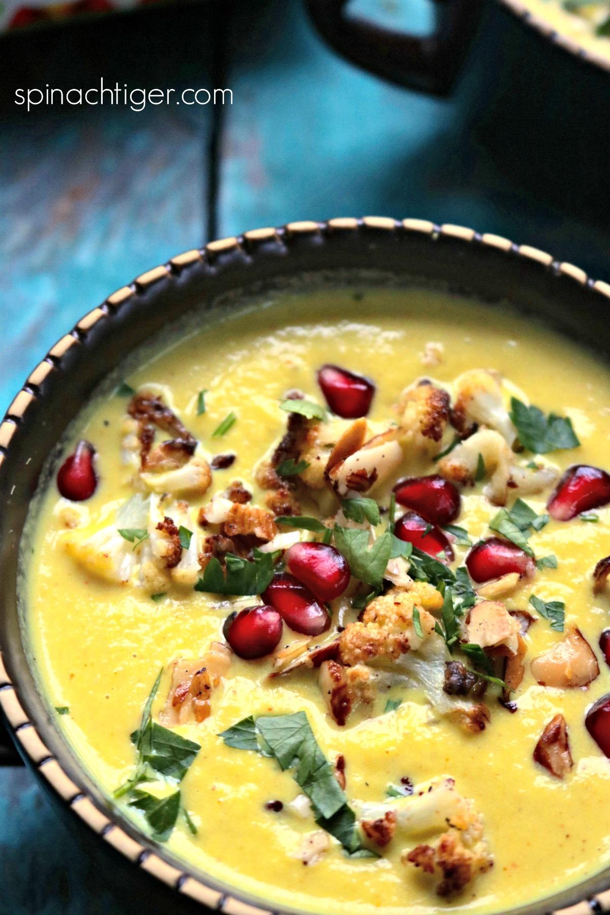 Up close Golden Cauliflower Soup