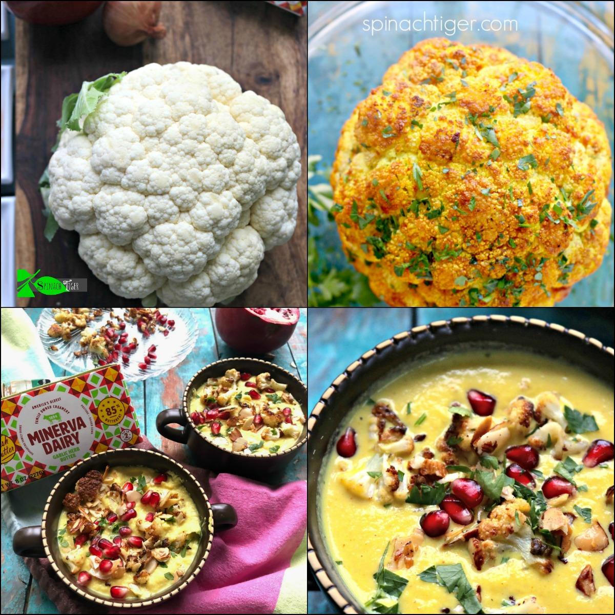 Collage Golden Cauliflower Soup