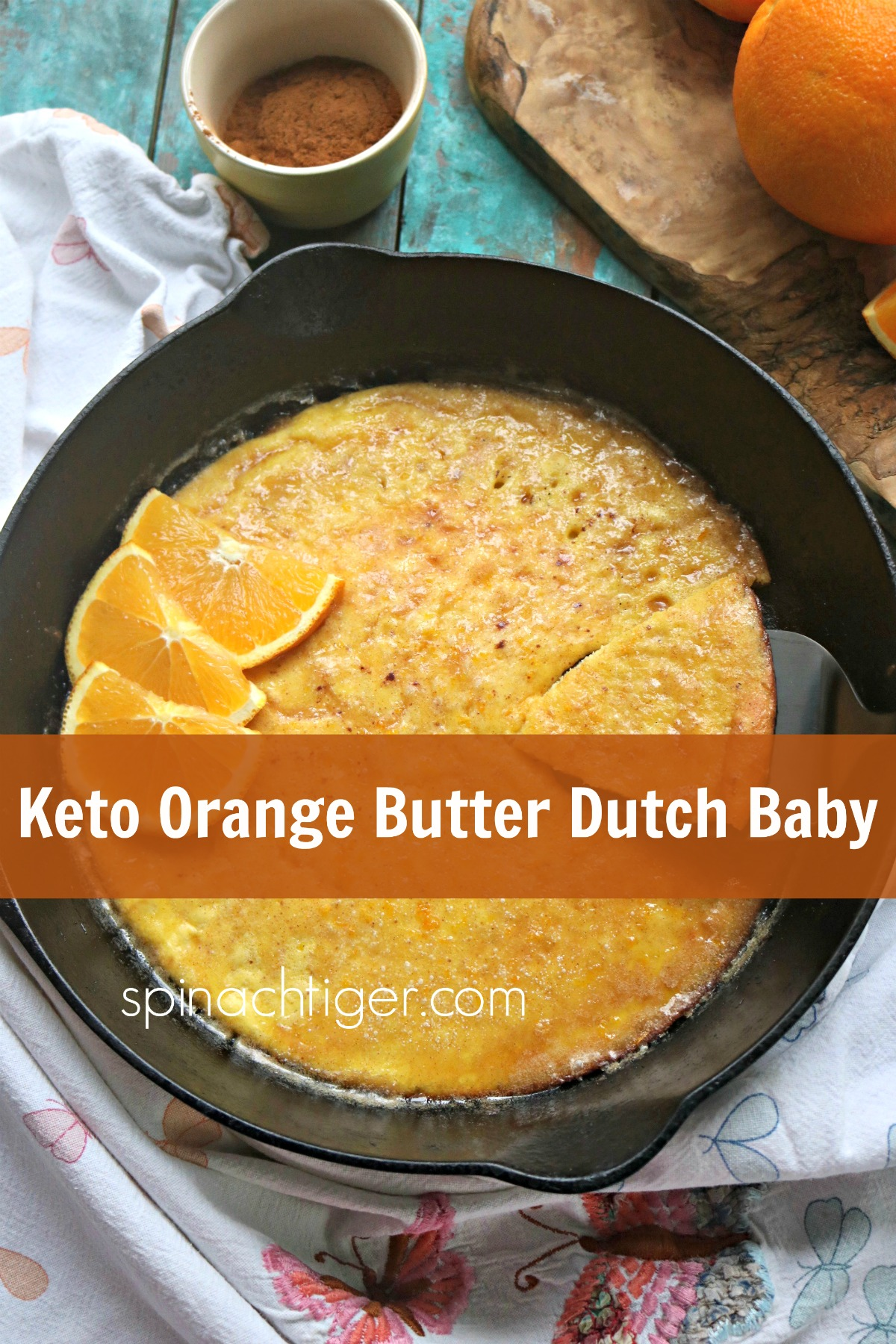 Keto Orange Butter Dutch Baby from spinach tiger
