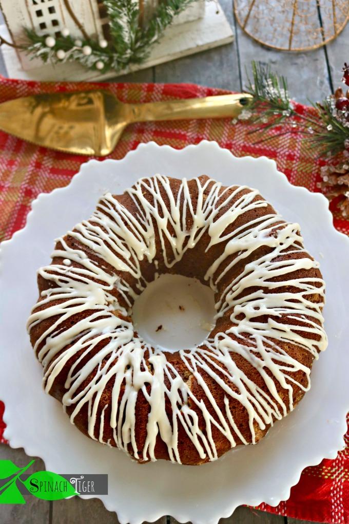 Keto Spice Cake with cream cheese glaze