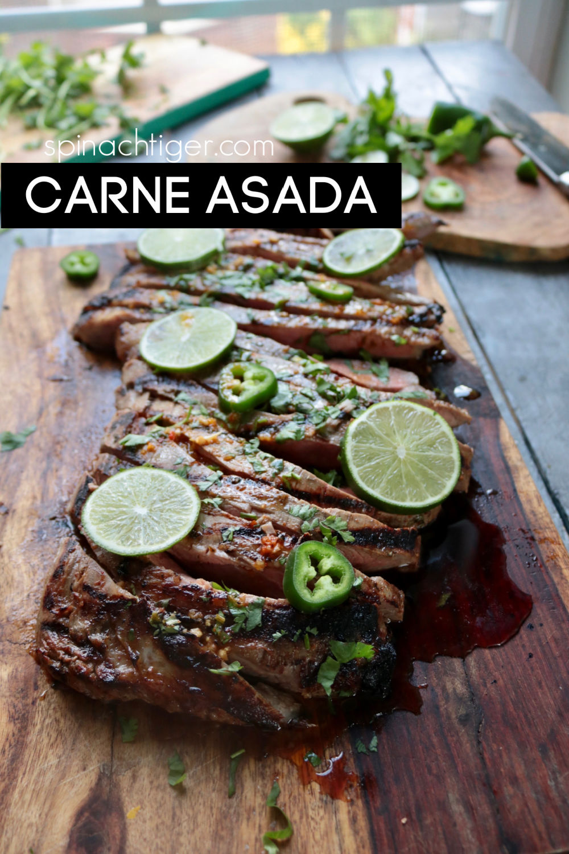 How to Marinate carne asada for delicious flavorful flank steak or skirt steak. Using olive oil, lime, orange juice, coconut aminos, cumin, garlic and chili powder. #carneasadarecipe #flanksteak #flanksteakrecipe #carneasadamarinade #grillmeat #grillflanksteak via @angelaroberts
