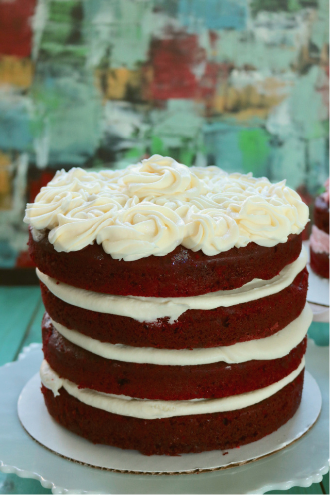 Keto Red Velvet Layer Cake from Spinach Tiger