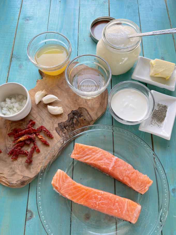 Ingredients for Tuscan Salmon