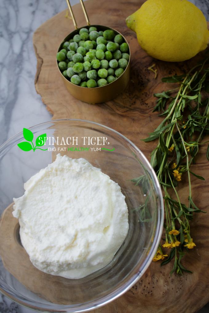 Ricotta Peas Appetizer Ingredients