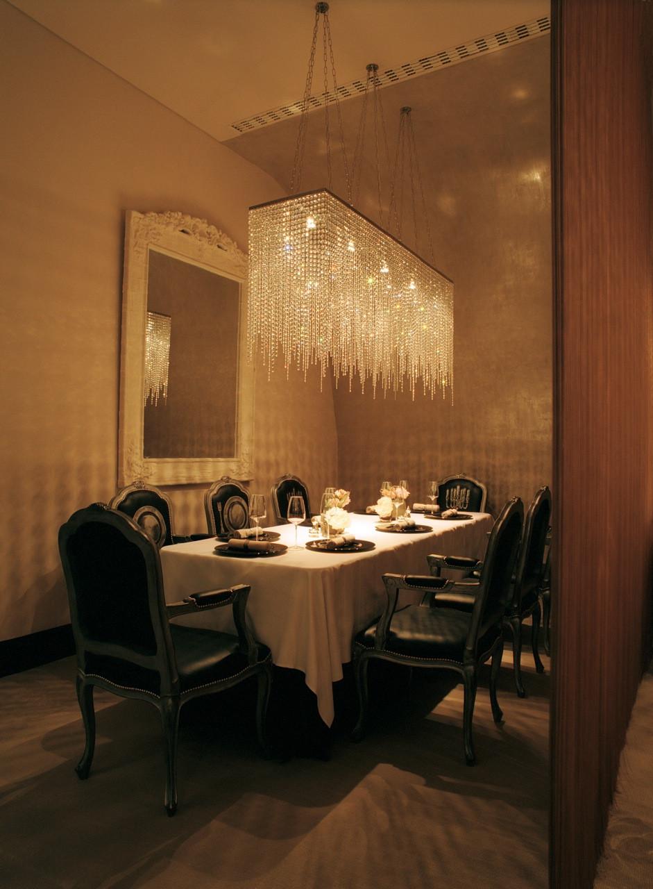 Rectangular Clear Crystal Chandelier Bespoke Lighting