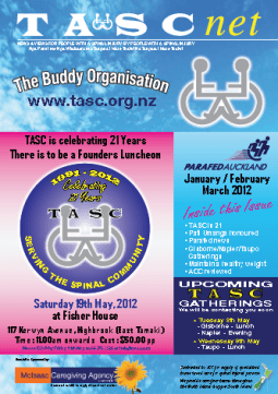 Cover of The TASC Net Newsletter March 2012- cover has 2 photos