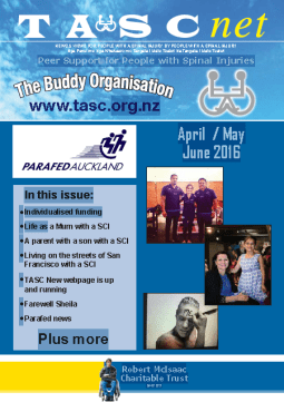 Cover of The TASC Net Newsletter June 2016- cover has 1 photos