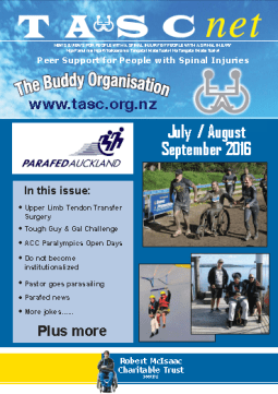 Cover of The TASC Net Newsletter September 2016- cover has 2 photos