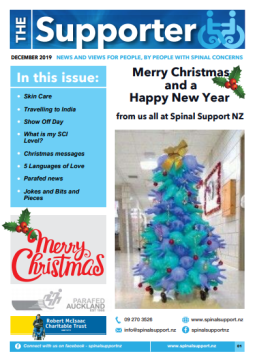 Cover of The Supporter Newsletter December 2019 - cover has 2 photos