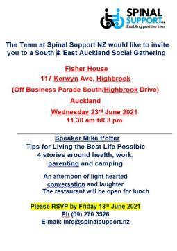 Spinal Support Gathering Fisher House Highbrook 23 June gathering flyer