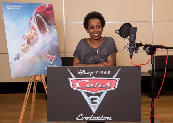 Disney, Cars 3, Shary Reeves im Synchronstudio .Foto: folioscope/Hanna Boussouar