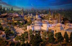 """STAR WARS-THEMED LAND MODEL AT D23 EXPOÊ-ÊThe epic, fully detailed model of theÊStar Wars-themed lands under development at Disneyland park in Anaheim, California and DisneyÕs Hollywood Studios in Orlando, Florida remains on display in Walt Disney Parks and ResortsÕ """"A Galaxy of Stories"""" pavilion throughout D23 Expo at the AnaheimÊConvention Center.ÊThe stunning exhibition gives D23 Expo guestsÊan up-close look at whatÕs to come on this never-before seen planet.Ê(Disney Parks/Joshua Sudock)"""
