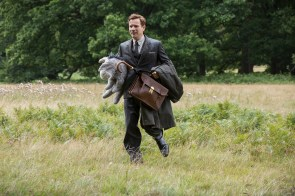 Christopher Robin (Ewan McGregor) with Eeyore in Disney's live-action adventure CHRISTOPHER ROBIN.