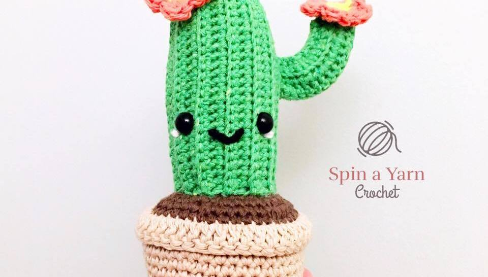 Crochet Baby Cactus Amigurumi Free Pattern Video - Fun House Plant ... | 546x960