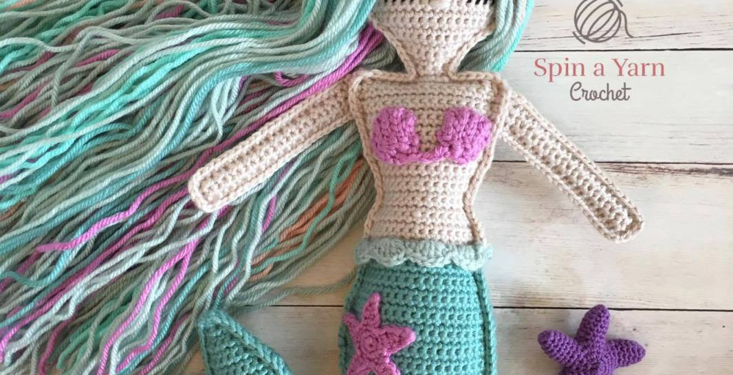 Free Mermaid Crochet Pattern - Red Ted Art - Make crafting with ... | 546x1066