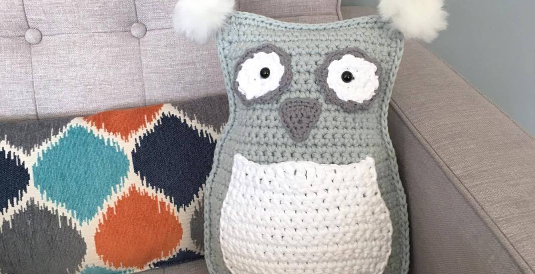 Owl Throw Pillowplushie Free Crochet Pattern Spin A Yarn Crochet