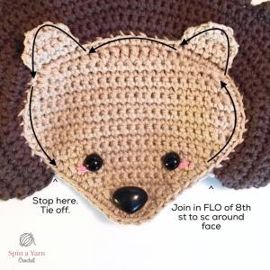 Crocheting around the face