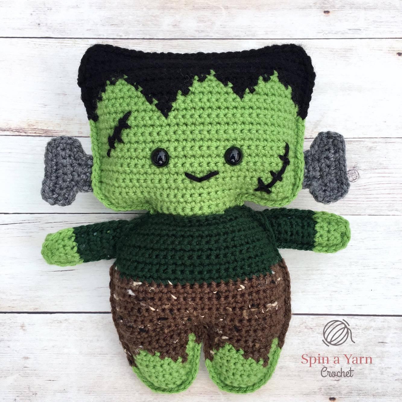 Amigurumi Monster Pattern Free Crochet : Frankenstein s monster free crochet pattern u spin a yarn crochet