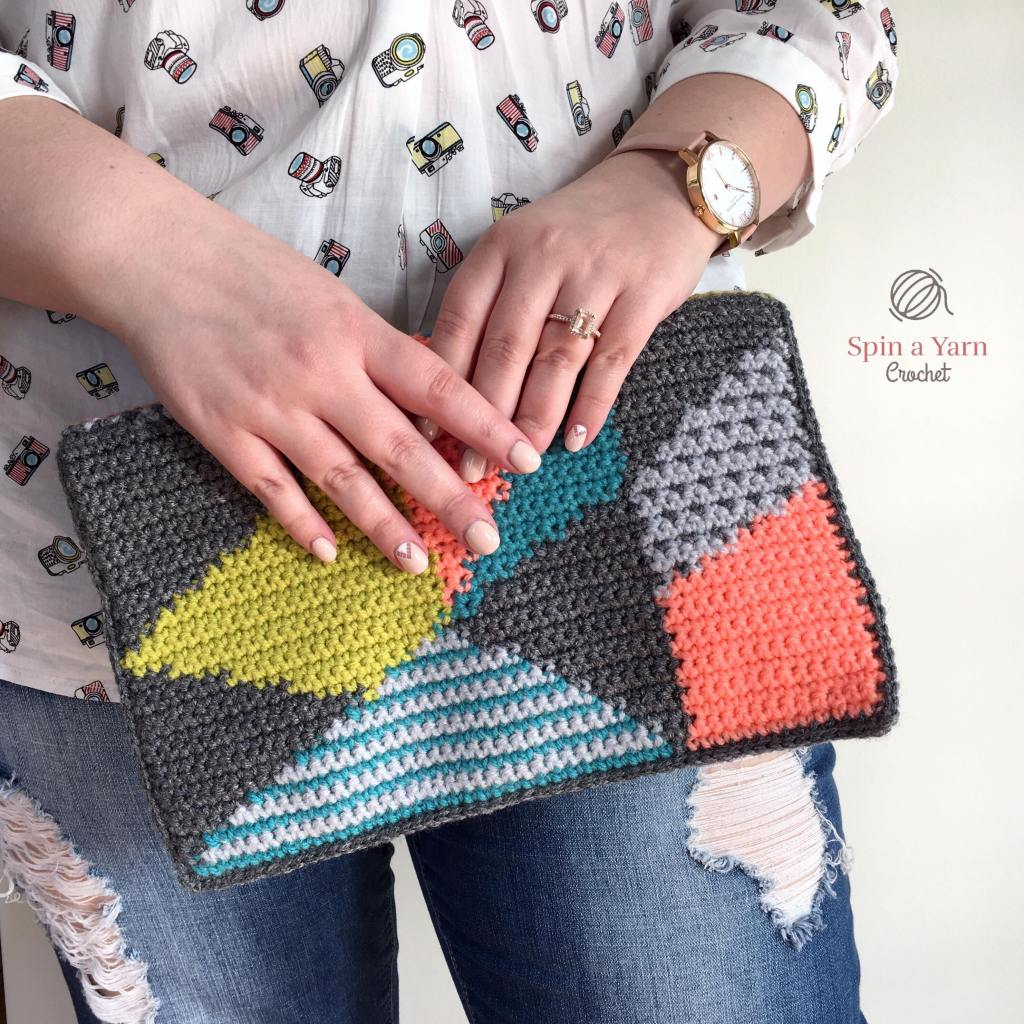 Person holding clutch