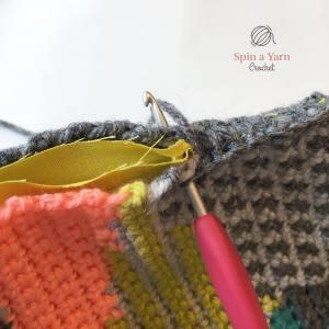 Crocheting panels together