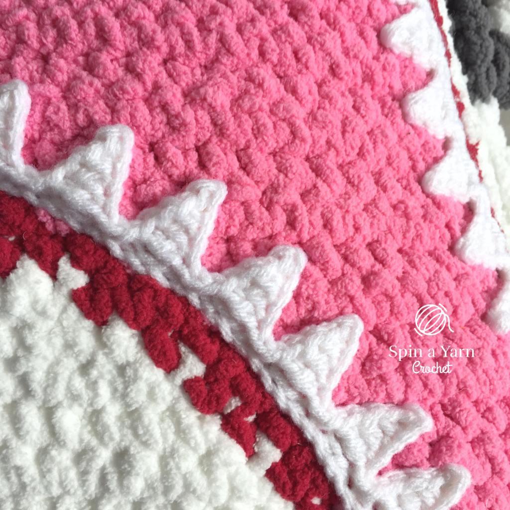 Crochet shark teeth