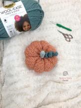 Crocheted pink pumpkin