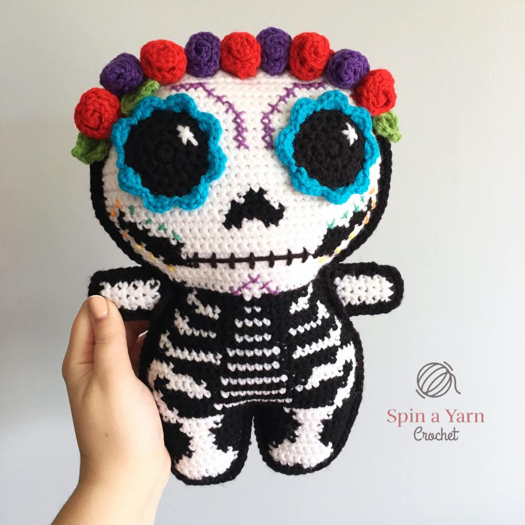 Completed sugar skull ami