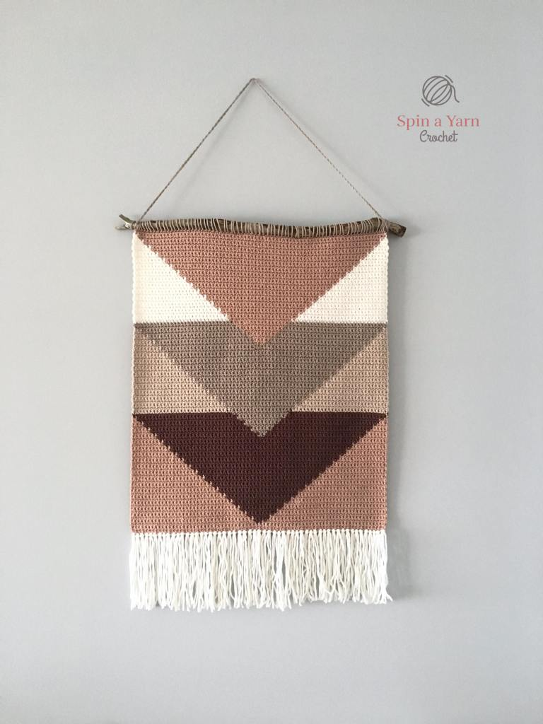 Wall hanging hanging on a wall