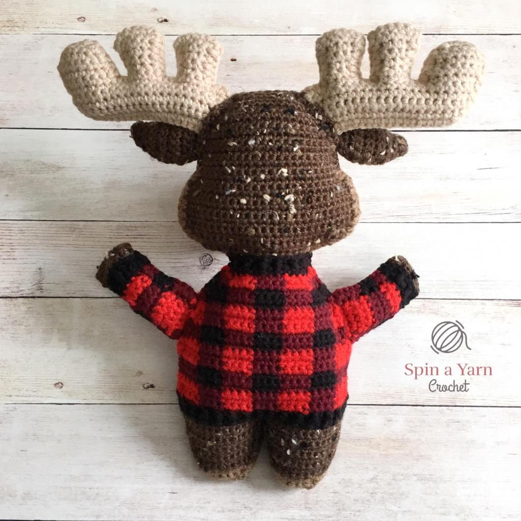 Back of finished moose