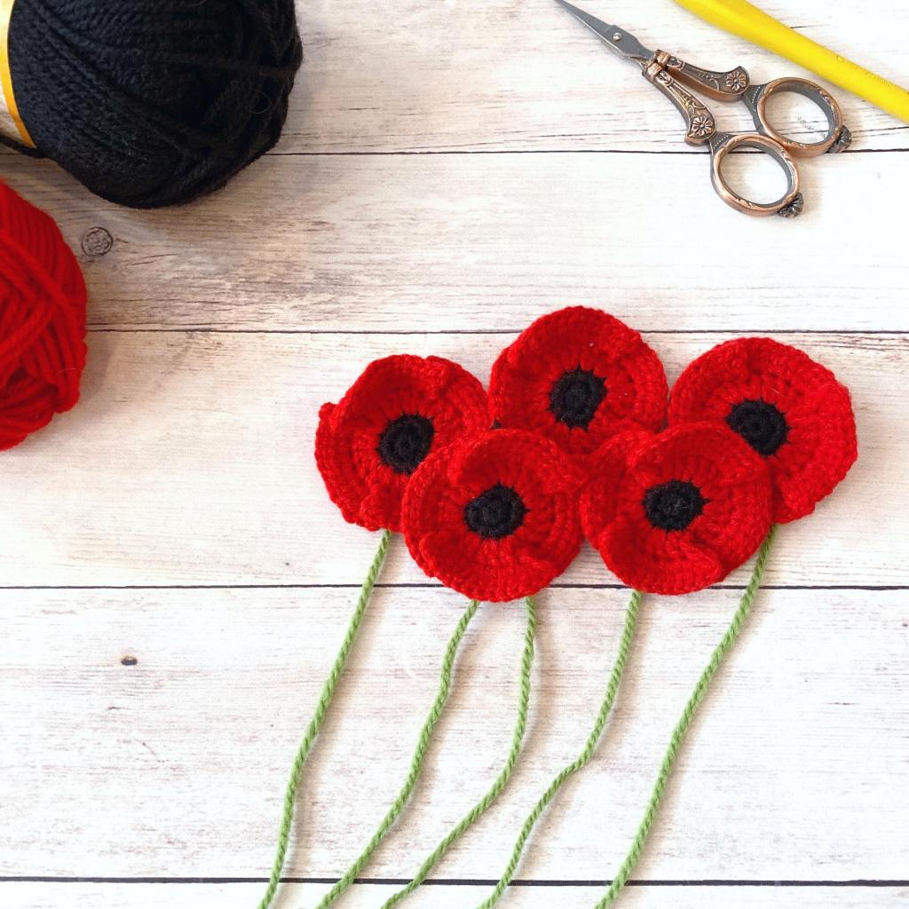 Crocheted Poppies
