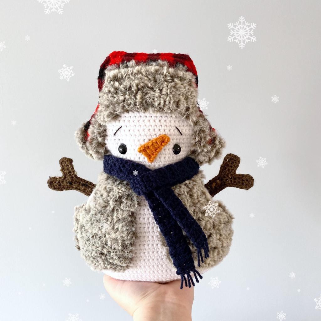 Crochet Christmas Snowman Free Pattern - Amigurumi Crochet ... | 1024x1024