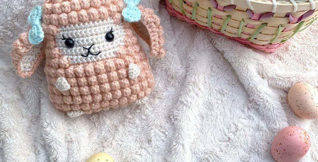 Handmade Crochet Lamb Amigurumi Stuffed Animal Toy Baby Gift (Rose ... | 546x1066