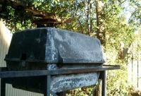 well-aged barbecue grill