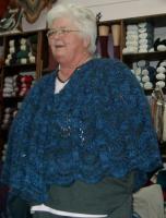 Diana's Bigfoot shawl