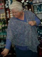 Diana and the Bluejay shawl