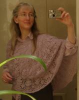 The original Clover Chain shawl, in baby alpaca fingering weight