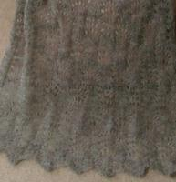 Ostrich Plumes pattern in gray laceweight