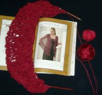 Michelle shawl in Misti and Claudia Silk