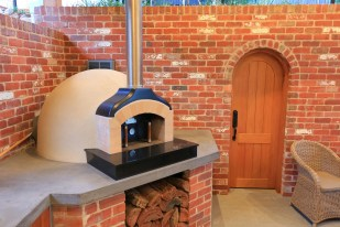 Dome Pizza Oven on Concrete Benchtop