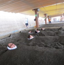 Ibusuki, hot sand baths