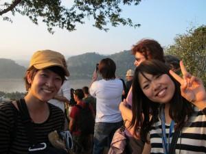 Japanese girls in Luang Prabang
