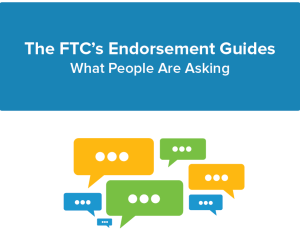 FTC endorsements guidelines