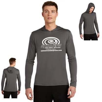 Spinners Long Sleeve Dri-Fit grey hood