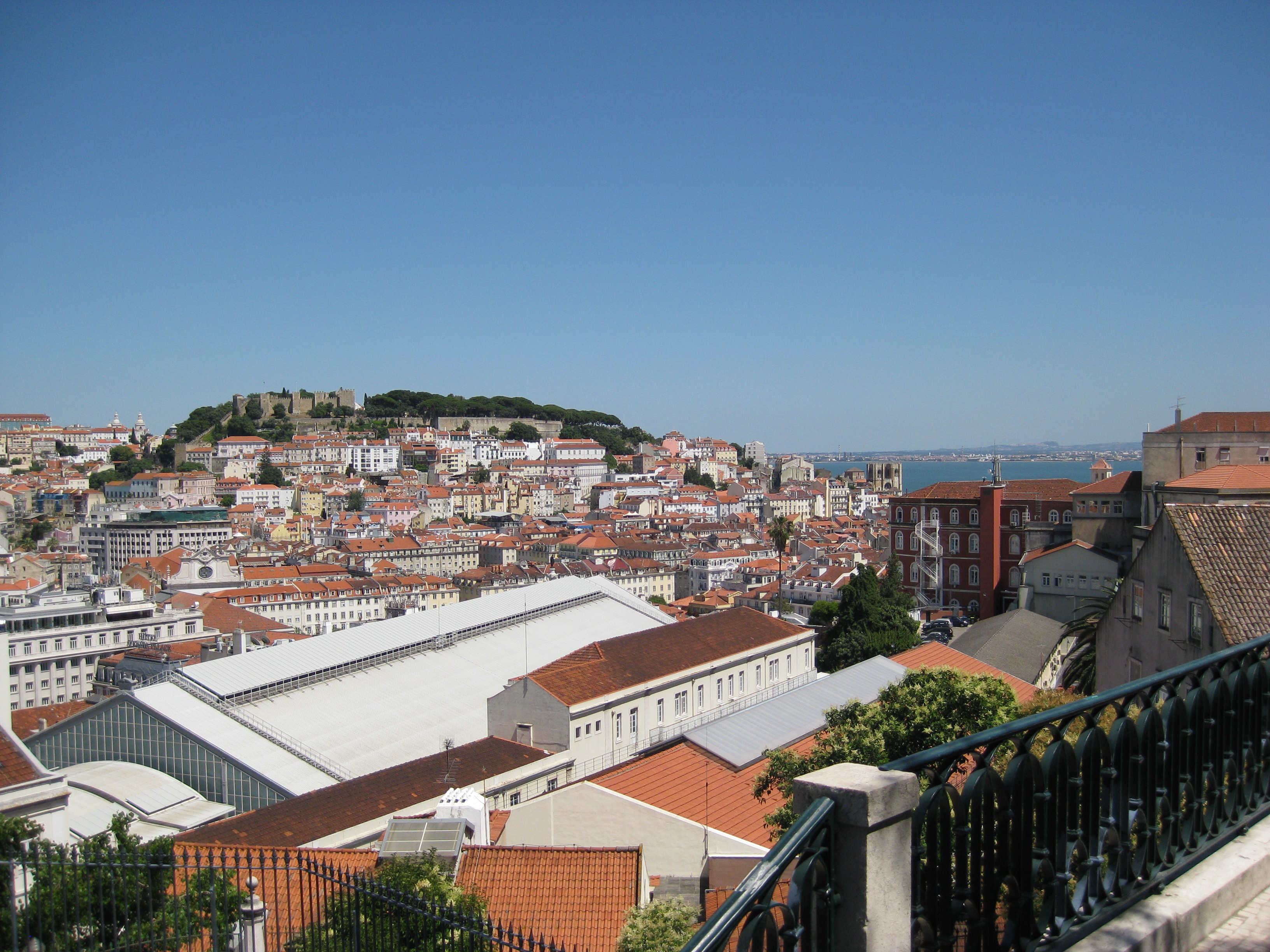 the Alfama from Chiado (two hills in Lisboa)