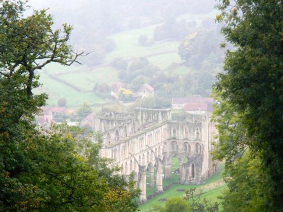 Rievaulx Abbey ruins in North Yorkshire